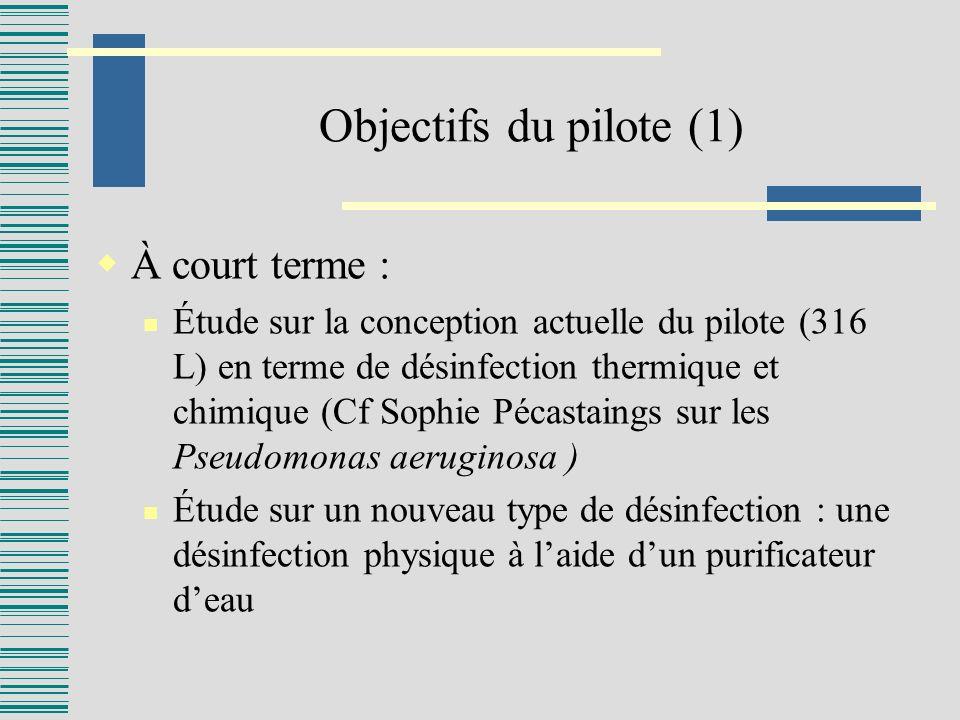 Objectifs du pilote (1) À court terme :