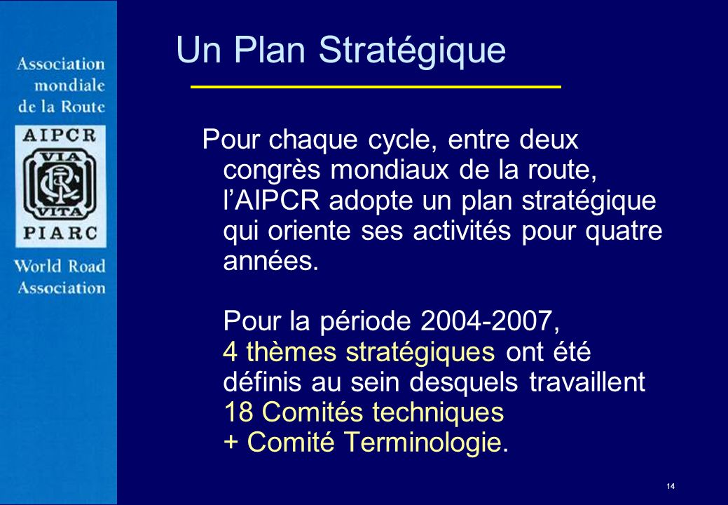 Un Plan Stratégique