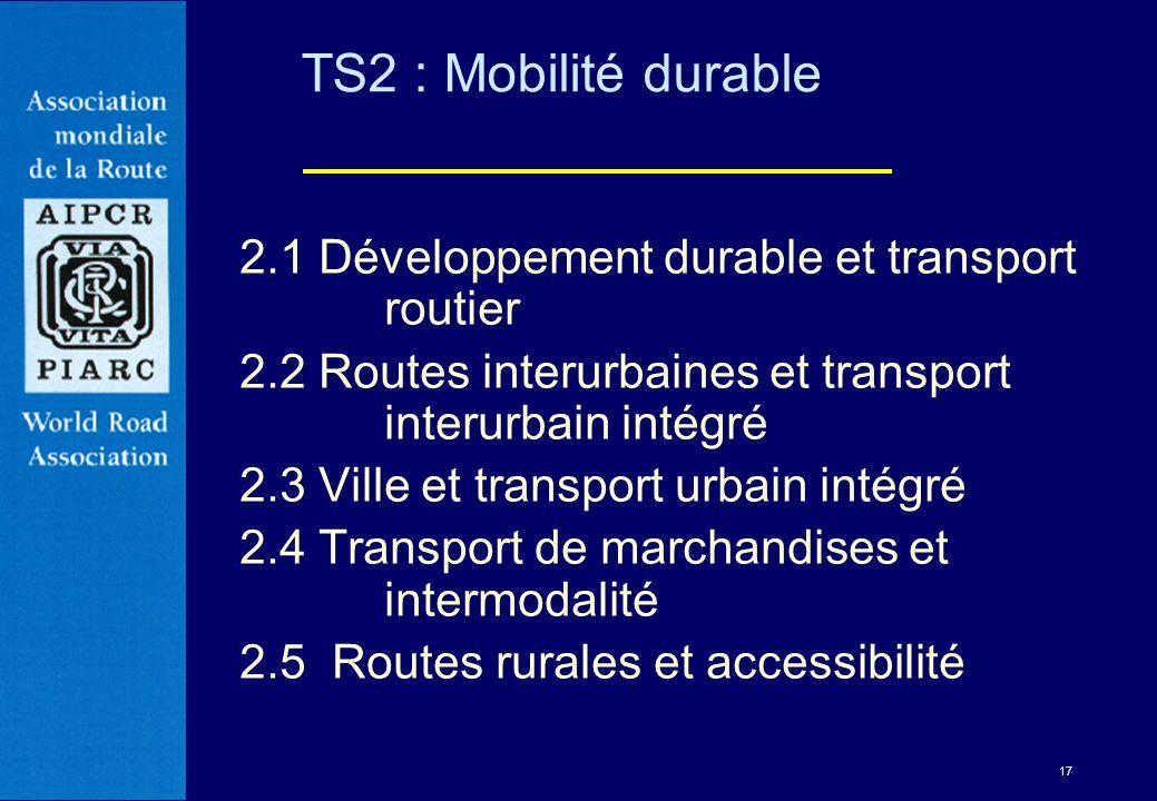 TS2 : Mobilité durable 2.1 Développement durable et transport routier
