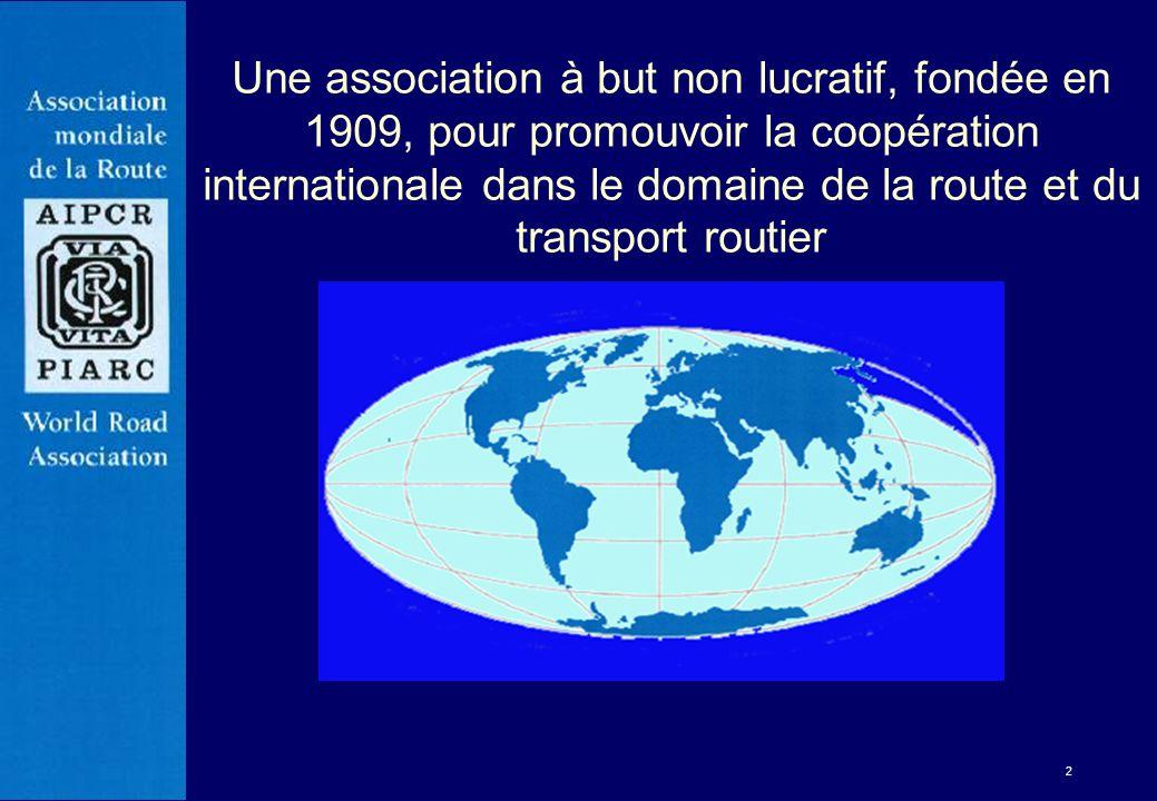 Une association à but non lucratif, fondée en 1909, pour promouvoir la coopération internationale dans le domaine de la route et du transport routier