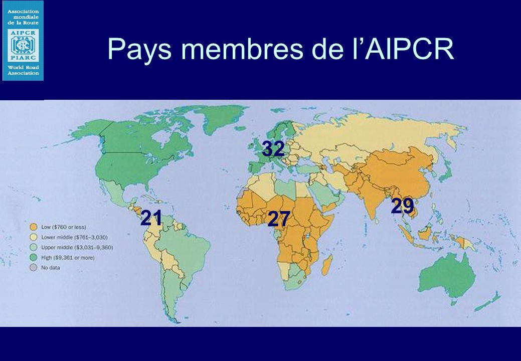 Pays membres de l'AIPCR