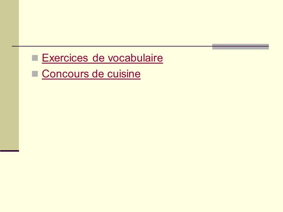 Exercices de vocabulaire
