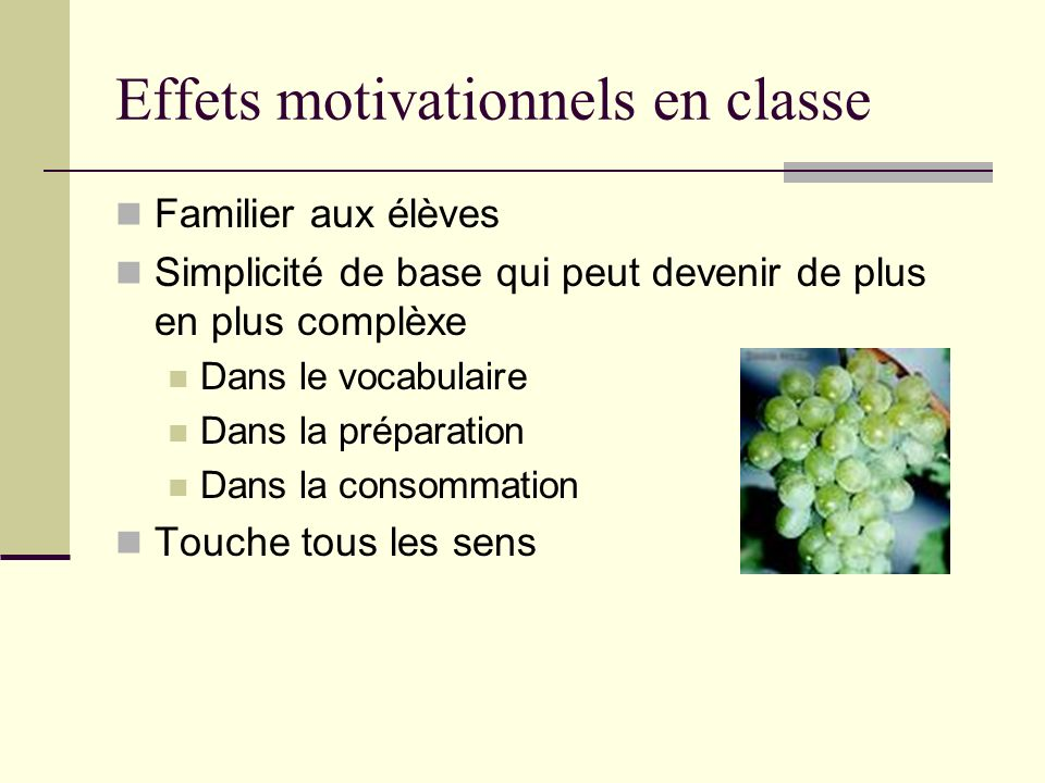 Effets motivationnels en classe