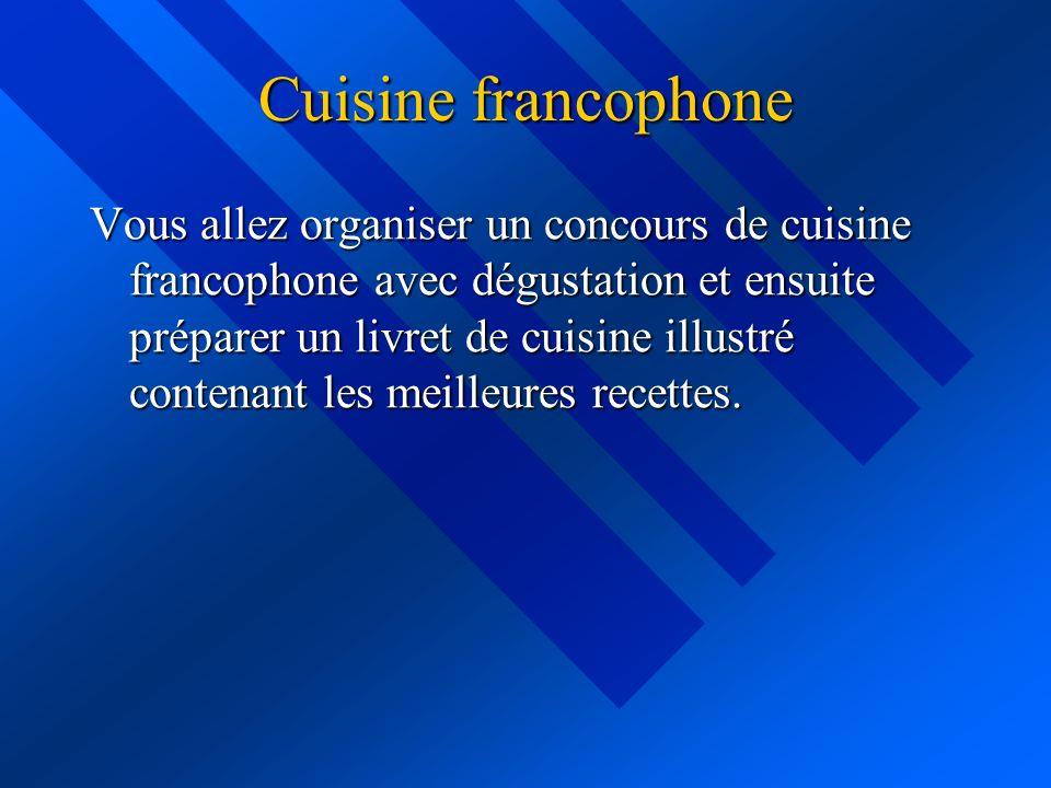 Cuisine francophone