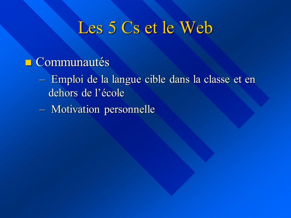 Les 5 Cs et le Web Communautés
