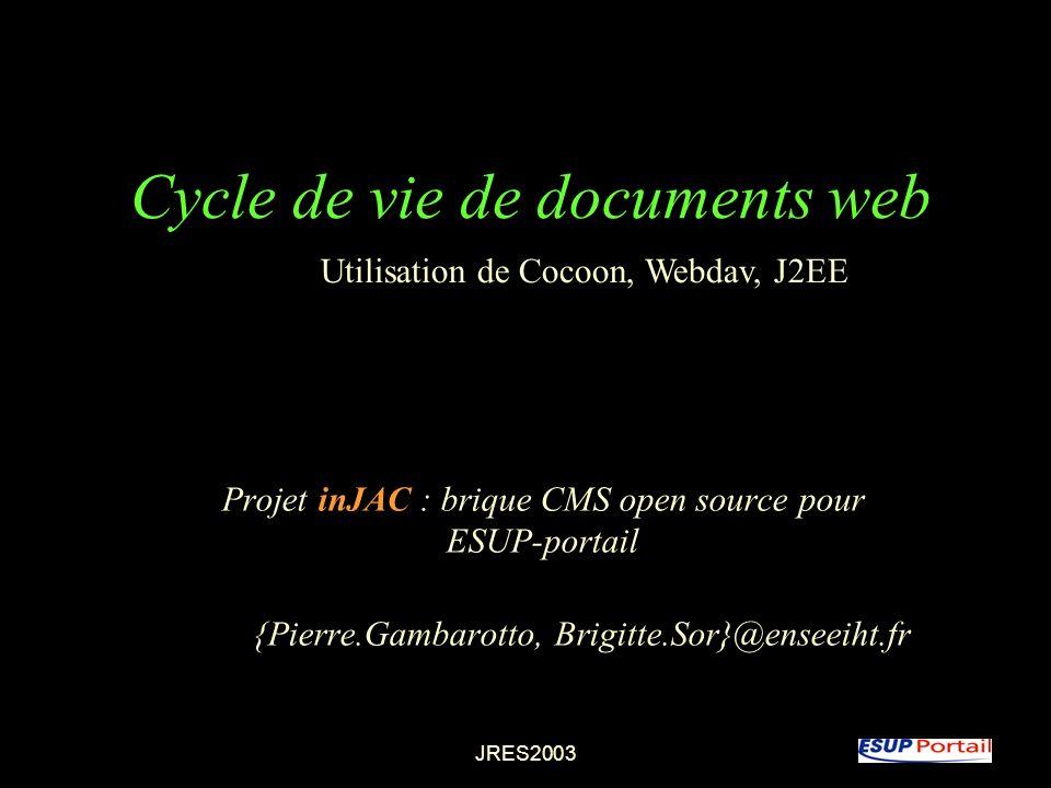 Cycle de vie de documents web