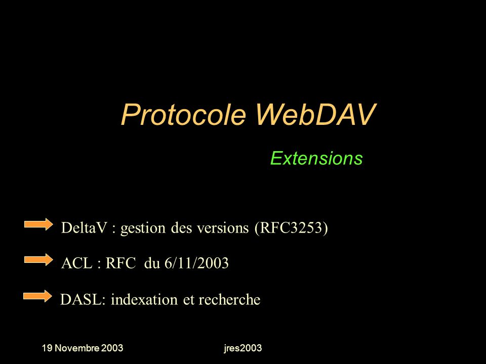 Protocole WebDAV Extensions DeltaV : gestion des versions (RFC3253)