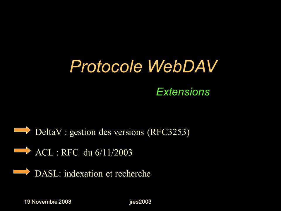 Protocole WebDAV Extensions DeltaV : gestion des versions (RFC3253)