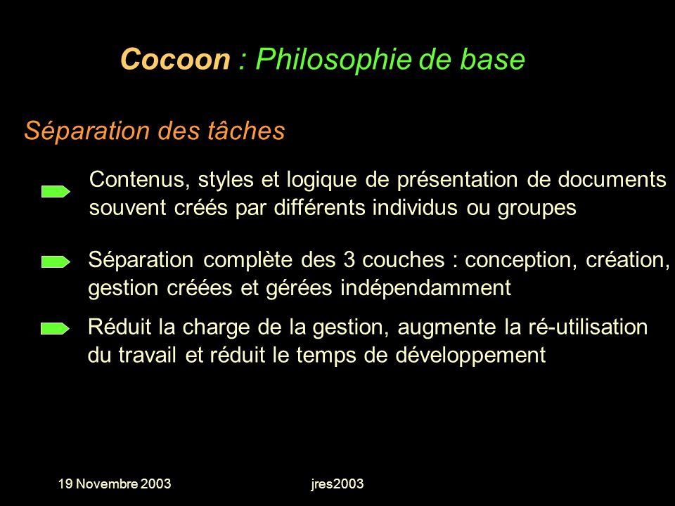 Cocoon : Philosophie de base
