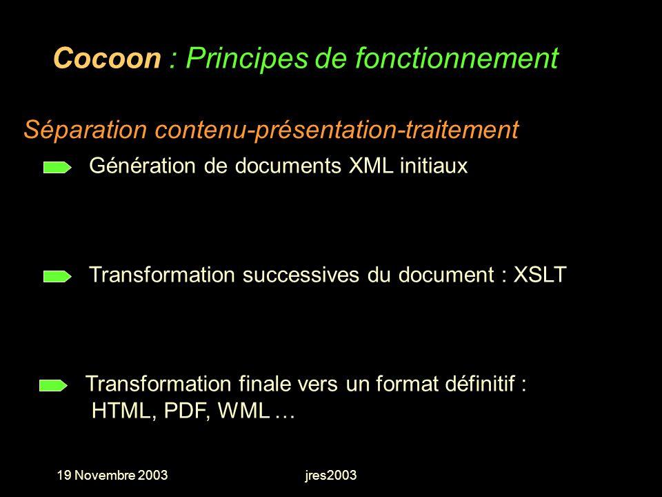 Cocoon : Principes de fonctionnement