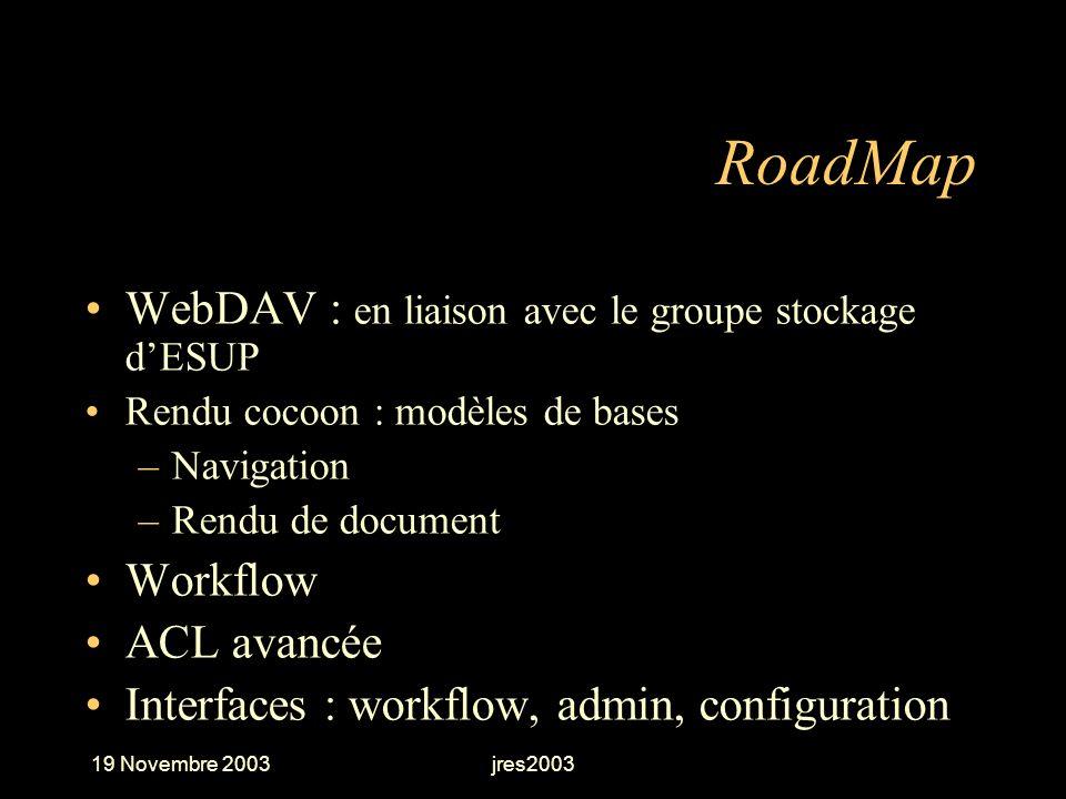 RoadMap WebDAV : en liaison avec le groupe stockage d'ESUP Workflow