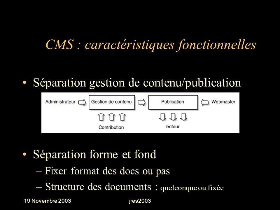 CMS : caractéristiques fonctionnelles