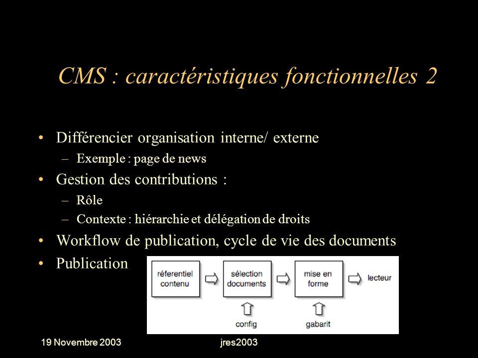 CMS : caractéristiques fonctionnelles 2