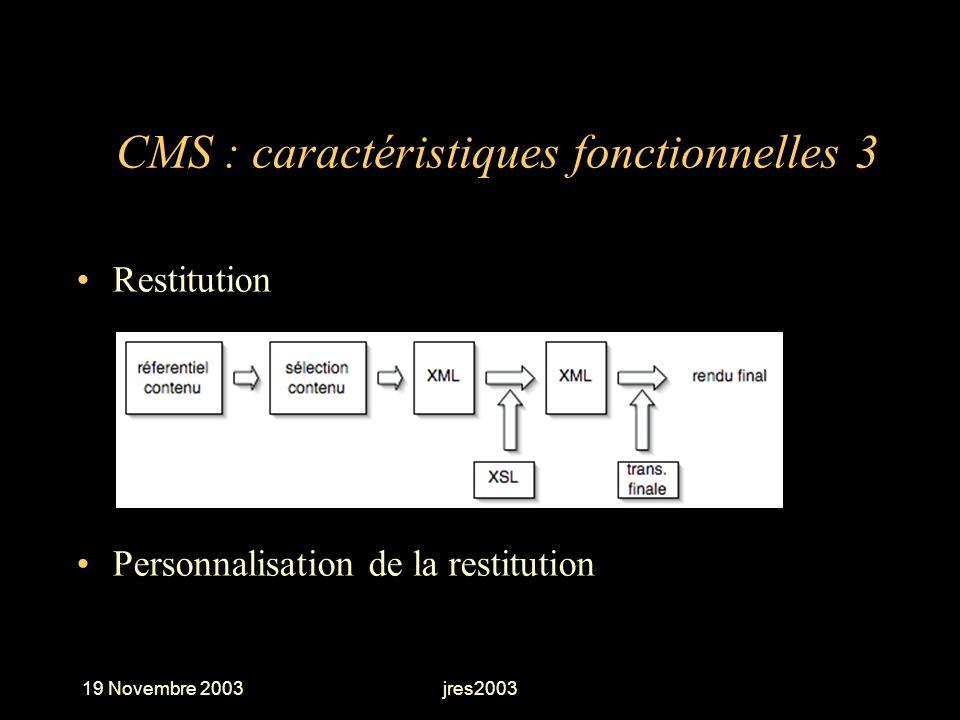 CMS : caractéristiques fonctionnelles 3