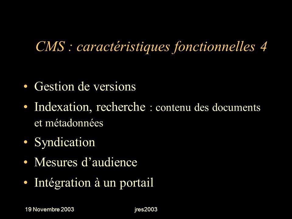 CMS : caractéristiques fonctionnelles 4