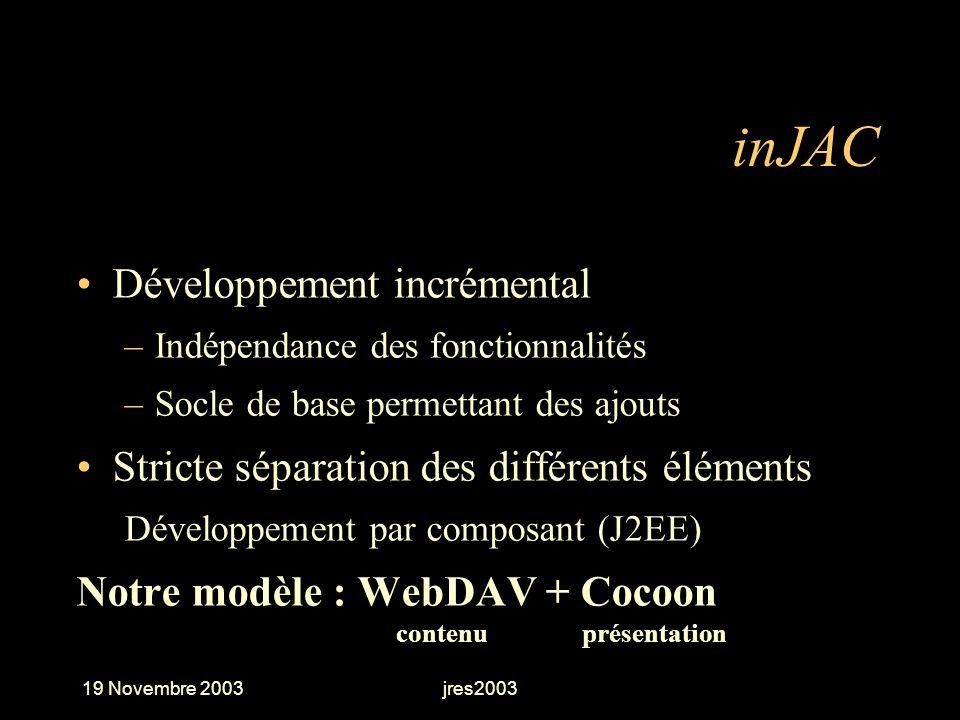 inJAC Développement incrémental
