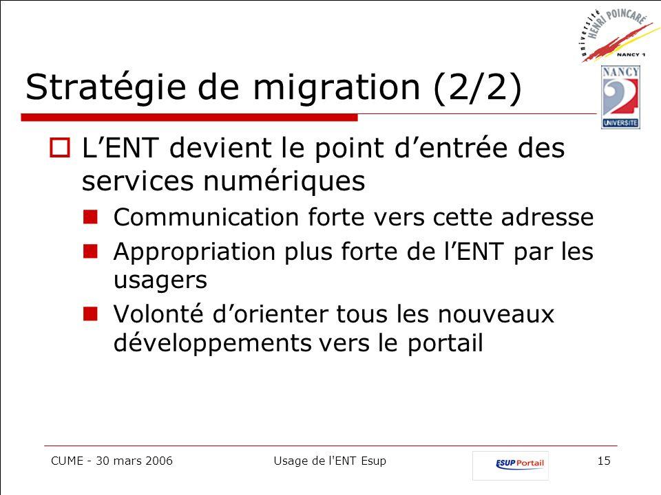 Stratégie de migration (2/2)
