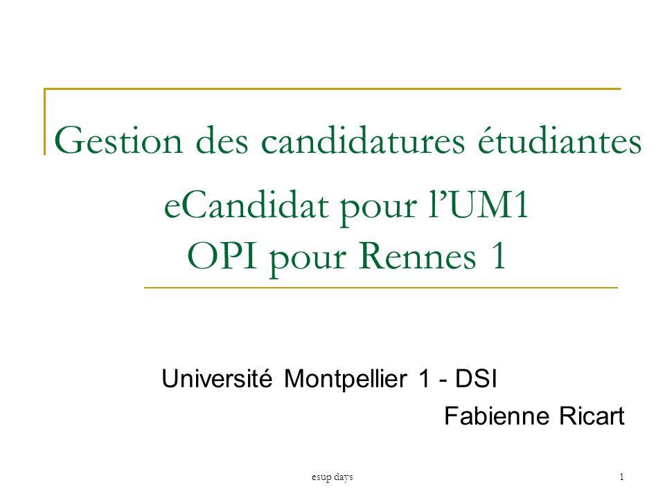 Université Montpellier 1 - DSI Fabienne Ricart