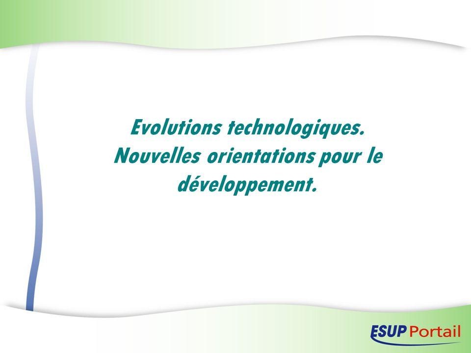 Evolutions technologiques. Nouvelles orientations pour le développement.