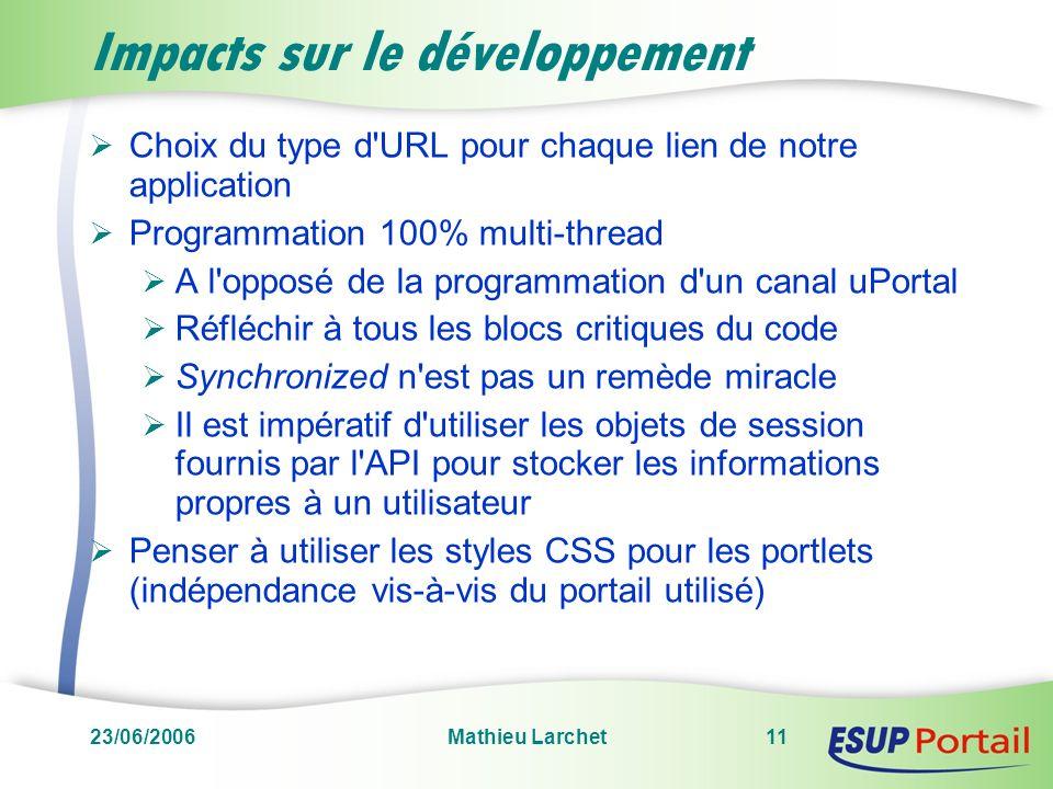 Impacts sur le développement