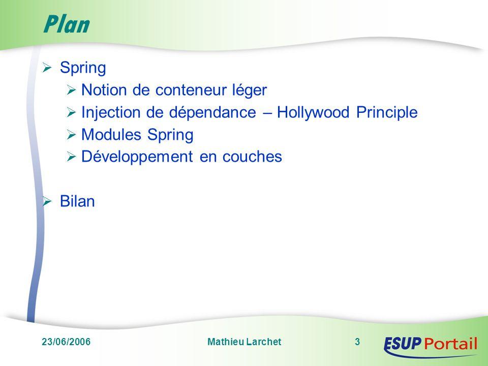 Plan Spring Notion de conteneur léger