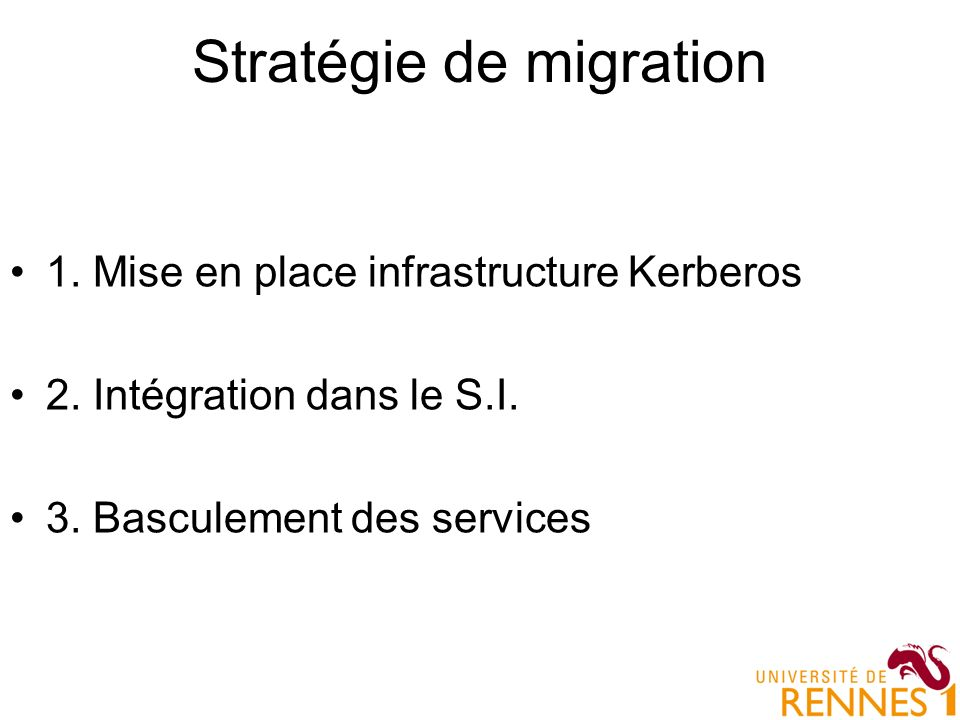 Stratégie de migration