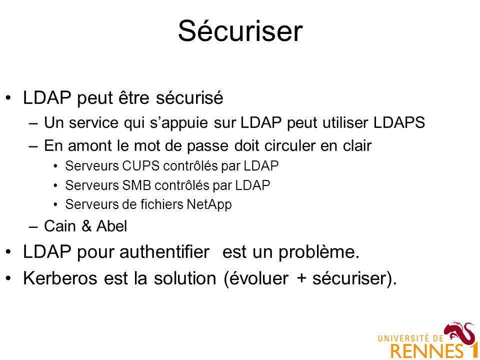 Sécuriser LDAP peut être sécurisé