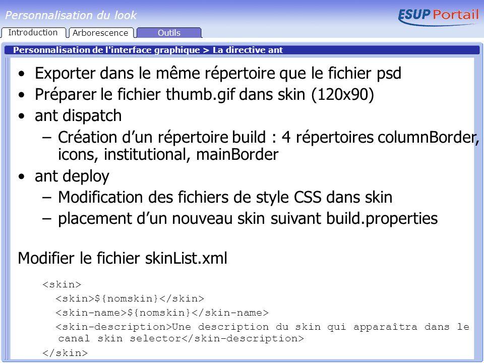 Exporter dans le même répertoire que le fichier psd