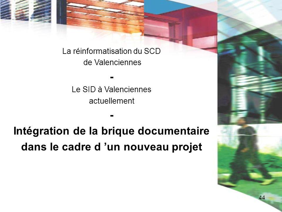 Intégration de la brique documentaire