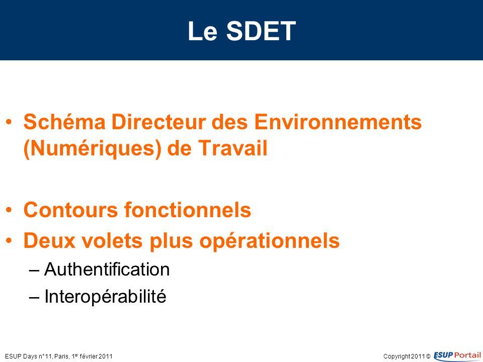 Le SDET Schéma Directeur des Environnements (Numériques) de Travail