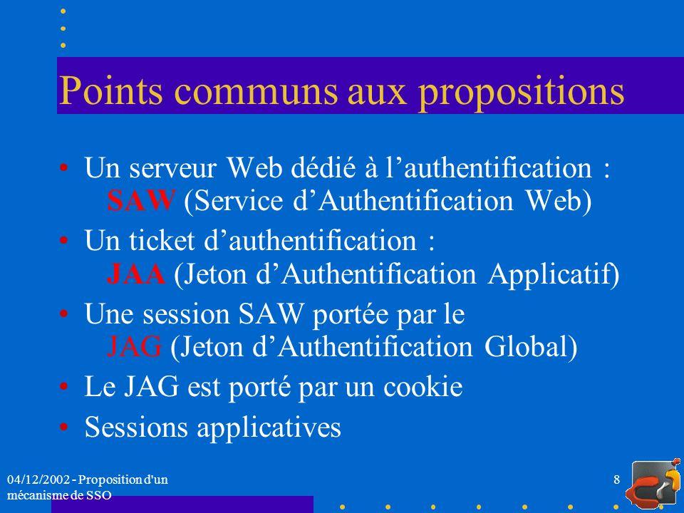 Points communs aux propositions