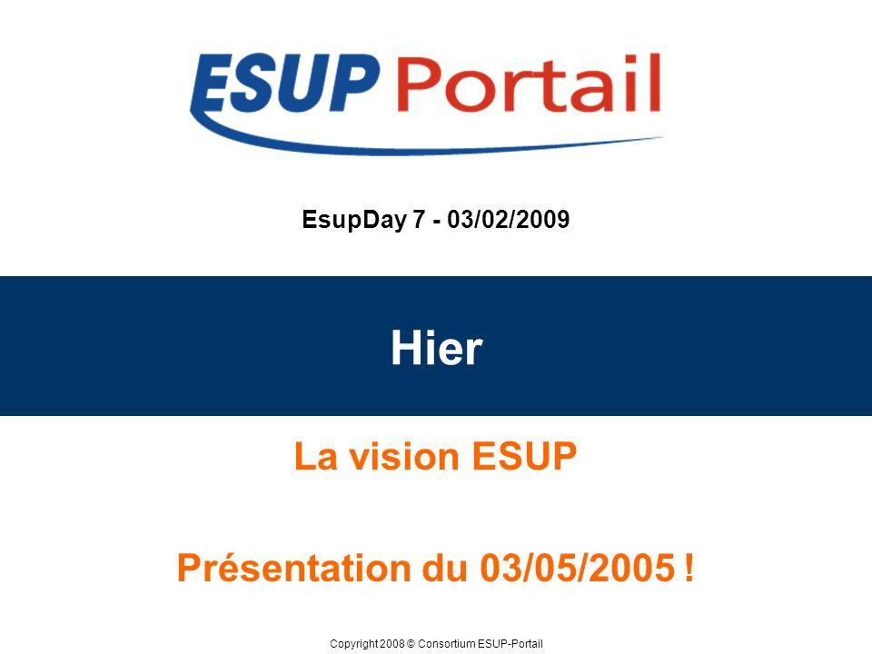 La vision ESUP Présentation du 03/05/2005 !