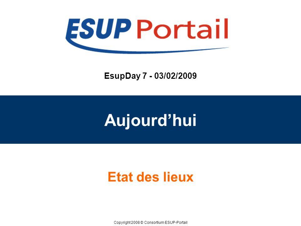 EsupDay 7 - 03/02/2009 Aujourd'hui Etat des lieux