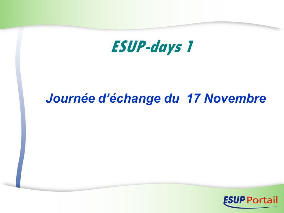 Journée d'échange du 17 Novembre