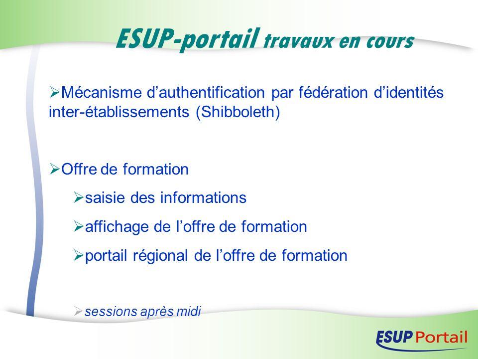 ESUP-portail travaux en cours