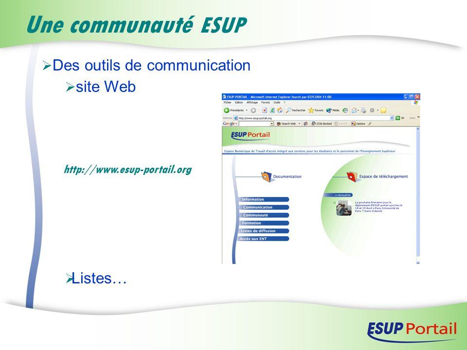 Une communauté ESUP Des outils de communication site Web Listes…