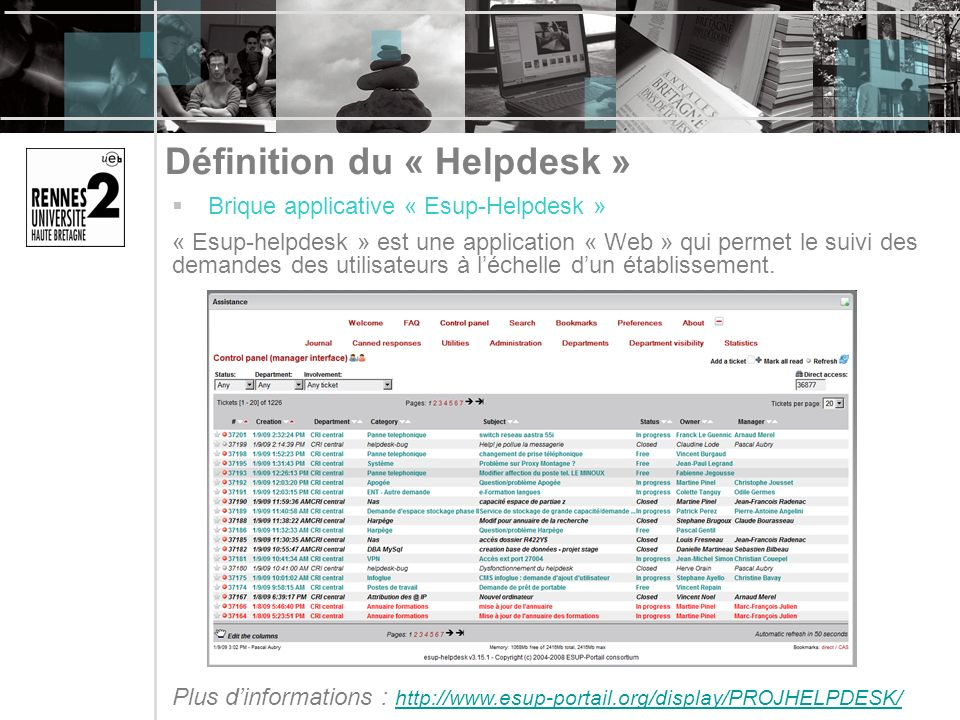 Définition du « Helpdesk »