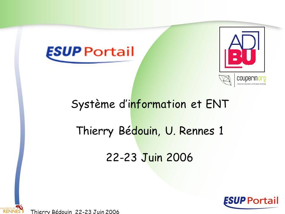 Système d'information et ENT Thierry Bédouin, U