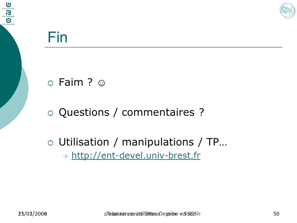 Fin Faim ☺ Questions / commentaires