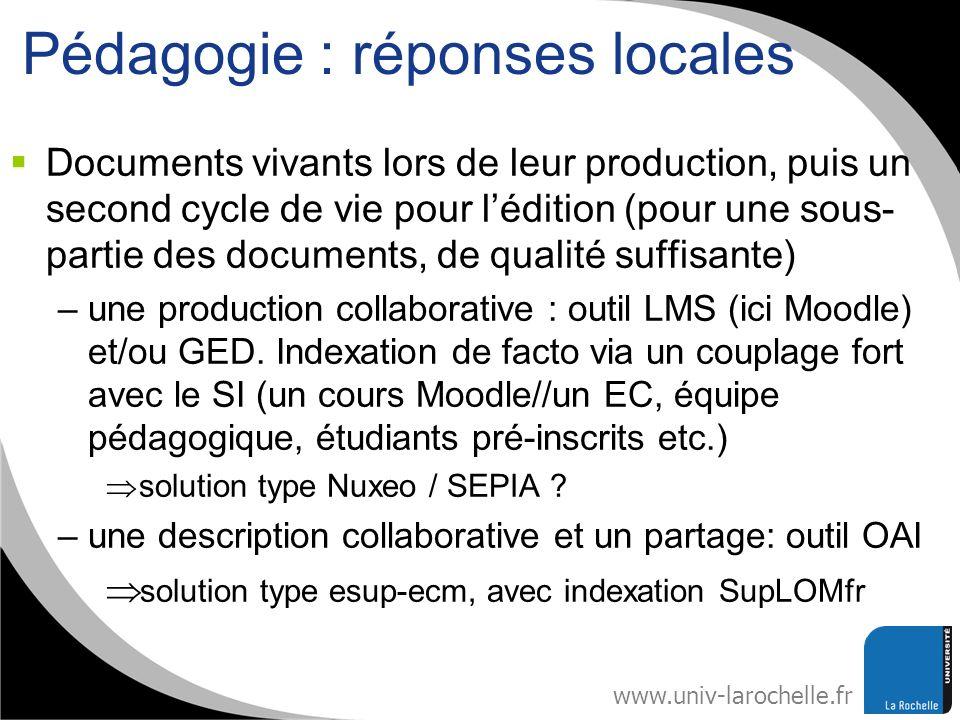 Pédagogie : réponses locales