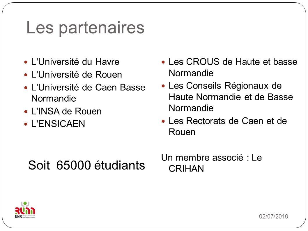 Les partenaires Soit 65000 étudiants L Université du Havre