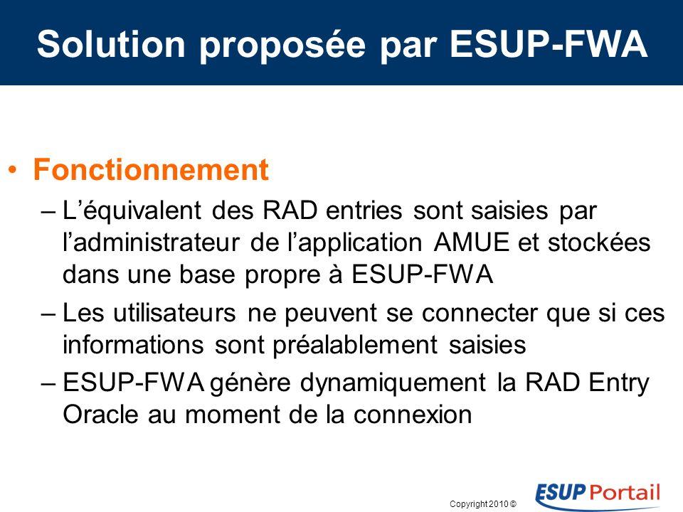 Solution proposée par ESUP-FWA