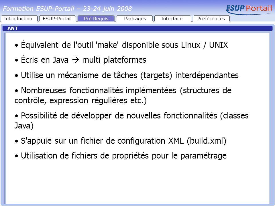 Équivalent de l outil make disponible sous Linux / UNIX