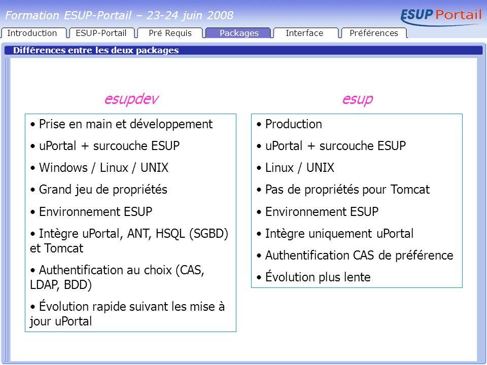 esupdev esup Prise en main et développement uPortal + surcouche ESUP