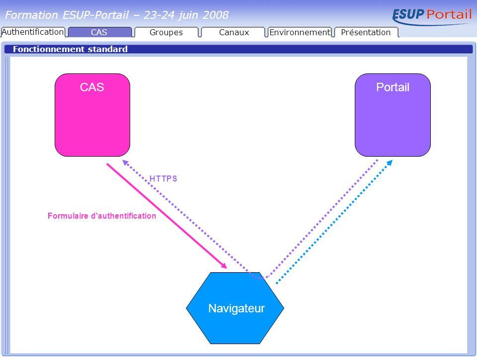 CAS Portail Navigateur Formation ESUP-Portail – 23-24 juin 2008
