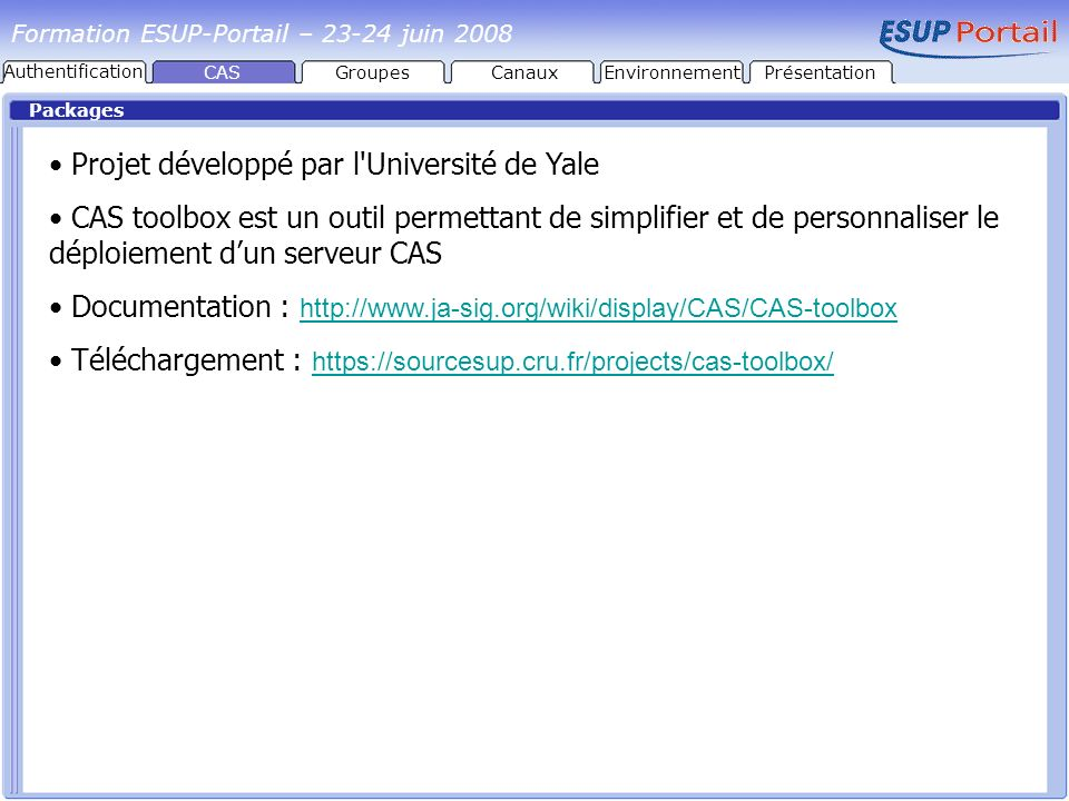 Projet développé par l Université de Yale