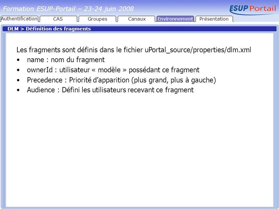 ownerId : utilisateur « modèle » possédant ce fragment