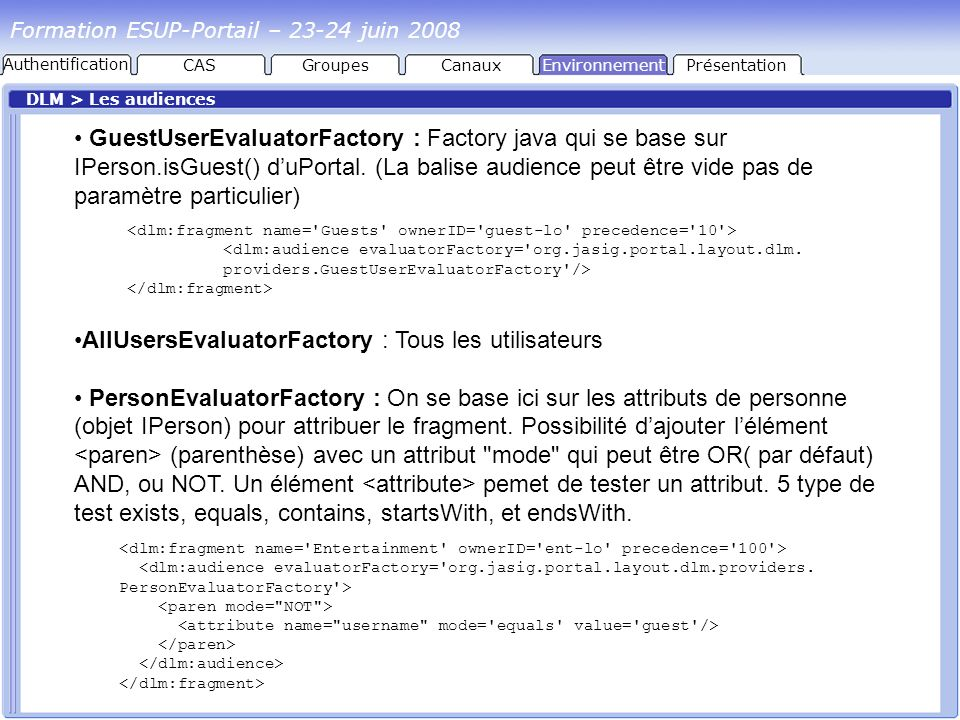 AllUsersEvaluatorFactory : Tous les utilisateurs