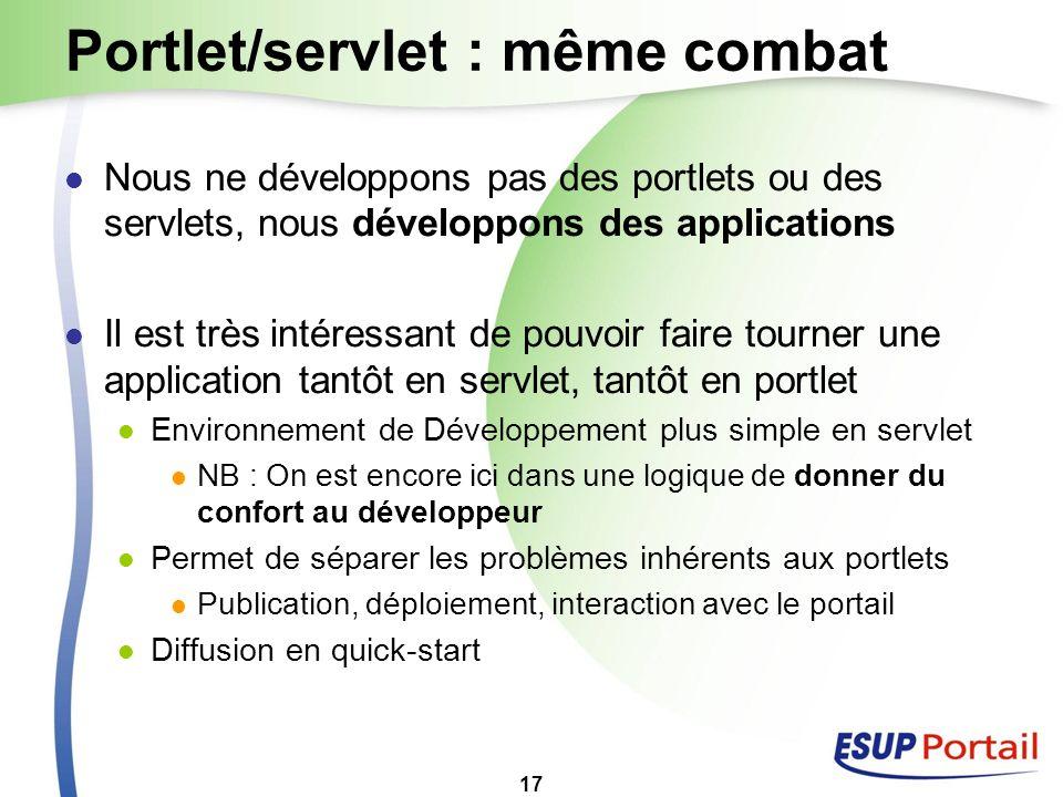 Portlet/servlet : même combat