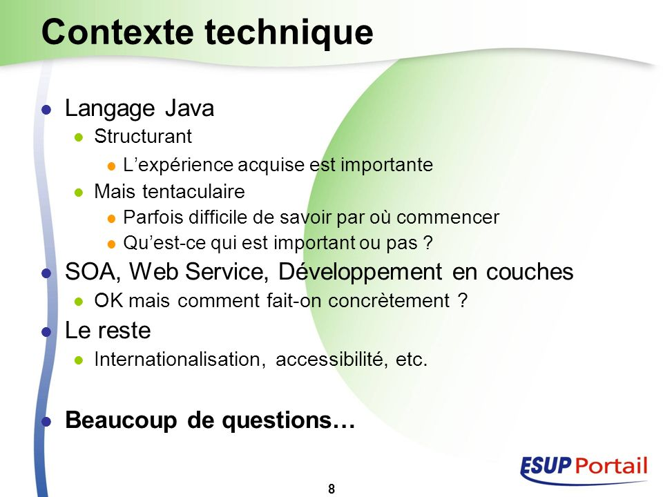 Contexte technique Langage Java